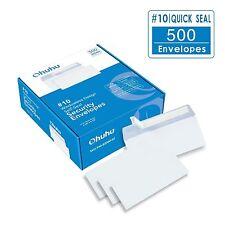 Ohuhu #10 Envelopes SELF SEAL Business Envelope Security White Tinted Paper