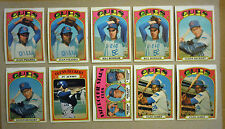 1972 Topps Chicago Cubs Team Lot 31 Cards Variations Fergie Jenkins Williams