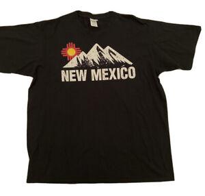 Vintage Mens Black T Shirt Size XL New Mexico Graphic Print Black T-shirt 2XL