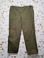 River Island Green Straight Casual Chino Trousers Size 16 L28