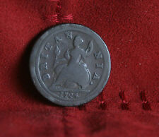 1724 Great Britain 1/2 Penny Half World Coin Britania Seated UK England RARE