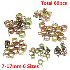 60Pcs 6 Sizes Auto Car Spring Clip Fuel Oil Water Hose Pipe Tube Clamp Fastener