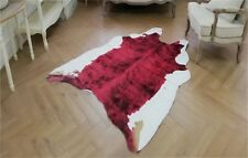 Large Tricolor Cowskin Cow Hide Leather Faux Carpet Cowhide Area Rug Mat