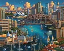 DOWDLE FOLK ART COLLECTORS JIGSAW PUZZLE SYDNEY 500 PCS AUSTRALIA