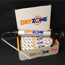 DRYZONE 600ml FOIL TUBE x4 + App Gun DAMP PROOF CREAM for rising damp treatment