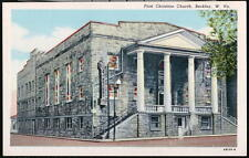 BECKLEY WV First Christian Church Vintage West Virginia Postcard Old W VA PC