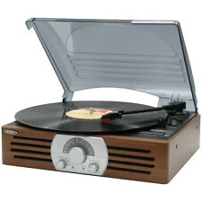 VINTAGE VINYL RECORD PLAYER TURNTABLE 3SPEED 33/45/78 RPM SPEAKERS PORTABLE NEW