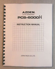 Azden Pcs-6000H Instruction Manual - comb bound and protective covers!