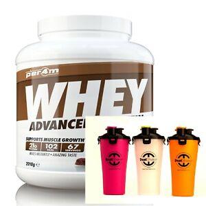 Per4m Nutrition Whey Protein 2kg, Advanced Protein, Gluten Free, & Dual Shaker!