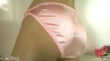 Chicas Satén Sedoso 12-13yrs Rosa Bikini Breve Braga-señoras UK 6/8