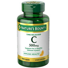 Nature's Bounty Vitamin C Supports Healthy Heart Immune System 500mg 100 Caps