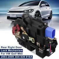 RH Rear Right Door Lock Actuator Mechanism Kit For VW Golf Mk5 Jetta Mk3 Touareg