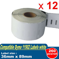 12 Compatible for DYMO 99012 Label 36mm x 89mm Labelwriter450/450 turbo