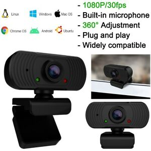 Rotatable HD 1080P Webcam Built in Microphone Desktop Laptop PC Video Recording