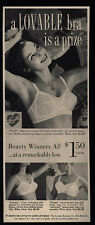 1960 Sexy Pretty Woman Wearing LOVEABLE Dualift Bra - is a  Prize - VINTAGE AD