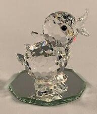 Swarvski Silver Crystal Drake Duck Bird #7660 - Mib