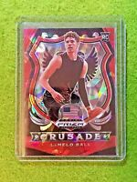 LAMELO BALL RED PRIZM CRUSADE CRACKED ICE ROOKIE CARD JERSEY #1  HORNETS RC 2020