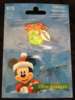 Disney Christmas Mickey Mouse gift Card LE  Pin