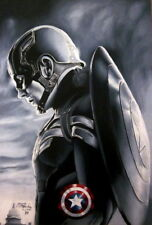 "034 Captain America 3 - VS Iron Man Civil War USA Hero Movie 14""x20"" Poster"