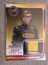 Marcos Ambrose 2013 Prees Pass Ignite Hot Treads Firesuit Card