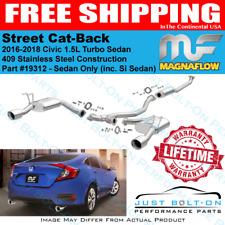 Magnaflow Street Cat-Back Exhaust fits 2016-2018 Civic 1.5L Turbo Si Sedan 19312