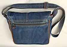 "Blue Denim LEVI'S 3X10X11"" Messenger Bag Purse w 4 Pockets 54"" Adjustable Handle"