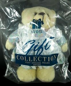 """Vintage 1996 Avon Gift Collection """"I Love My Sister"""" Teddy Bear 9"""" NEW SEALED"""