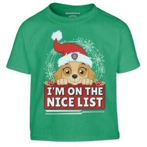 Paw Patrol Skye Ugly Christmas I M On The Nice List Kinder Jungen T-Shirt