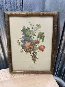 Vintage ~  T.L. Trevost ~ Floral ~ Print ~ Framed ~ Home Decor ~ Lovely