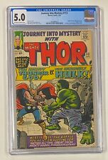JOURNEY INTO MYSTERY #112 Marvel 1965 CGC 5.0 Classic Thor vs Hulk Battle Issue