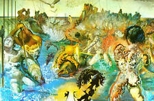 Framed Print - Salvador Dali Tuna Fishing (Painting Picture Poster Art)