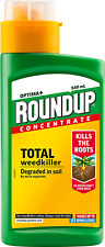 ROUNDUP OPTIMA+ CONCENTRATE TOTAL WEEDKILLER 540ml x 2 NEW
