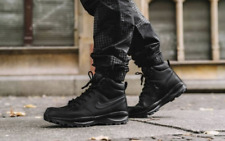 Nike Manoa Leather Triple Black 454350-003 Water Resistant Boots Men's NEW