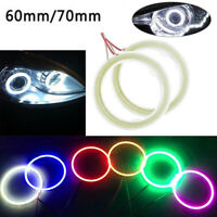 Car Led Headlight COB LED Light Ring Angel Eyes Light Warning-Lamp With Housing0