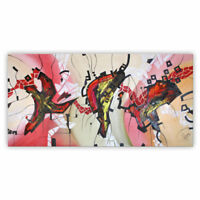 """Moderne Design Malerei """" FIGURATIVE FANTASY"""" Pink,Rosa BILD von Bozena Ossowski"""
