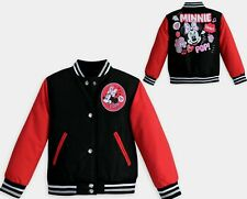 Disney store exclusive Minnie Mouse Varsity Jacket child 9-10 Large New Girls