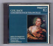 CPE BACH CD CTOS POUR VIOLONCELLE & ORCHESTRE/ MIKLOS PERENYI/ JANOS ROLLA