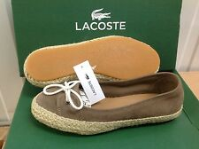 Lacoste ELETA 3 Women's Suede Sneakers Plimsolls Casual Shoes, Size UK 4 EU 37