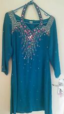 Pyjama Kameez - Ready Made from India - Blue/Green