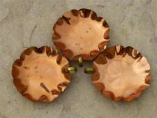 Lot of (3) Bright & Shiny Copper Candy Dishes in Floral Pattern w/Finger Holder
