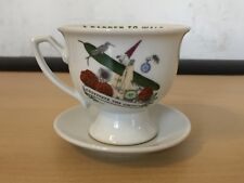 HENDRICKS GIN TEA CUP AND SAUCER  - CULTIVATE THE UNUSUAL -A GARDEN TO WALK IN