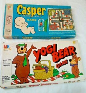 1959 Casper The Friendly Ghost Board Game,Harvey Cartoons,1980 Yogi Bear Game