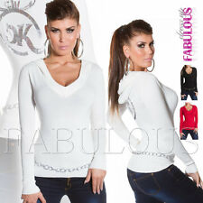 Ladies Sweater Pullover Jumper Top Hoodie SIZE 6 8 10 (US Size 2 4 6) XS S M
