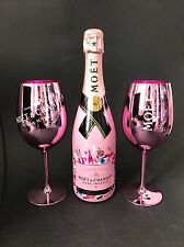 Moet Chandon Rose Emoji Champagner Flasche 0,75l 12% Vol +2 Rosé Echt Glas