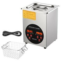2L Stainless Steel Ultrasonic Cleaner Digital Heater Timer Pro Jewelry Cleaning