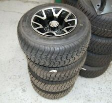 "Set of 4 OEM Factory 10"" Atlas Wheels w/ 205/55-10 Tires Club Car Golf Cart NEW"
