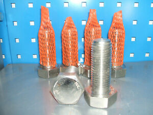 M27 x 70mm Stainless steel set screw bolt Qty 6 DIN933 A4-70
