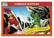IRON MAN VS. TITANIUM MAN / Marvel Universe Series 1 (Impel 1990) BASE Card #121