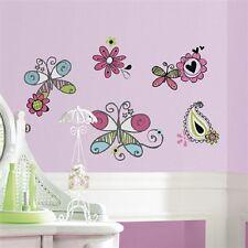 Schmetterlinge & Blumen Wandtatoos wiederverwendbar für Kinder RoomMates 62363