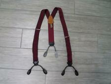 vintage TRAFALGAR burgundy red REPTILE silk SUSPENDERS braces